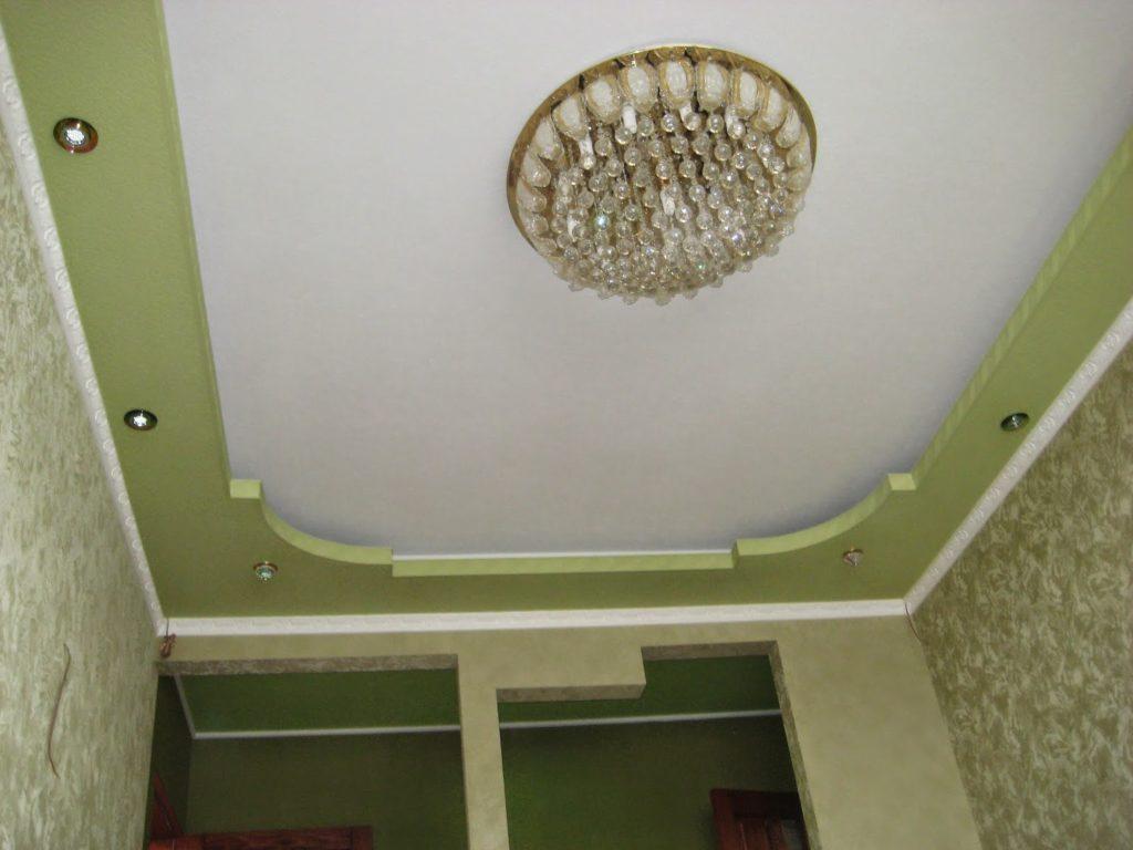 потолок в зал из гипсокартона
